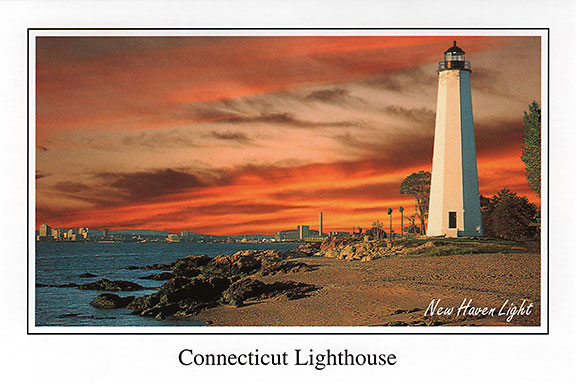 New Haven, Connecticut Lighthouse Postcard
