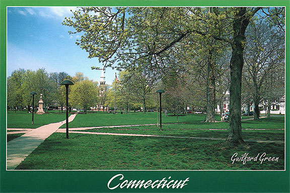 Guilford Green, Guilford, Connecticut Postcard