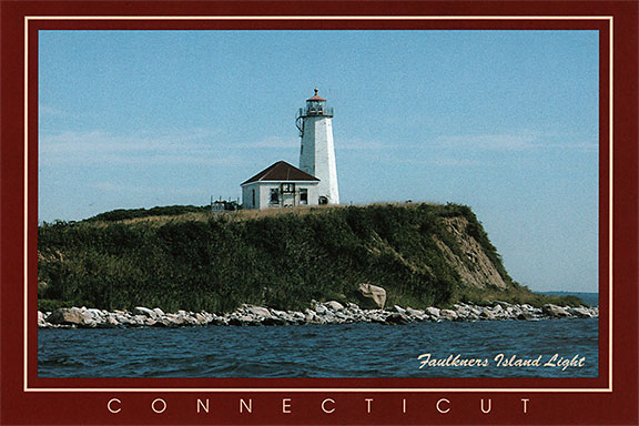 Faulkner's Island Lighthouse - Guilford, Connecticut, Postcard